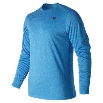 New Balance United NYC Half Finisher LS Tee, Electric Blue Heather