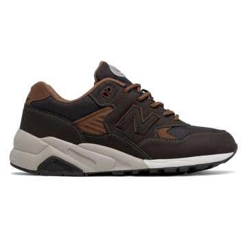 New Balance 580系列复古鞋, 黑色/棕色