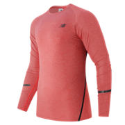 NB Trinamic Long Sleeve Top, Atomic Heather with Black