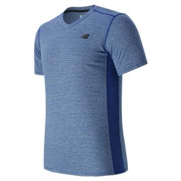 New Balance Striped Sonic Top, Marine Blue