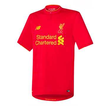 New Balance LFC Mens Firmino Home No Patch SS Jersey, High Risk Red