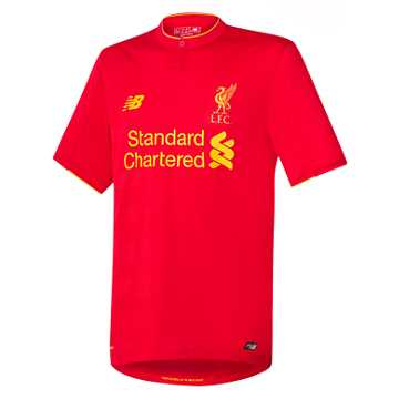 New Balance LFC Mens Home SS Jersey, High Risk Red