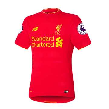 New Balance LFC Mens Firmino Home SS Elite Jersey, High Risk Red