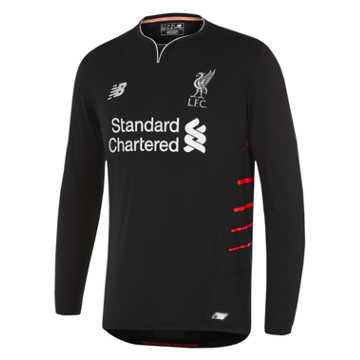 New Balance LFC Mens Away LS Jersey, Black