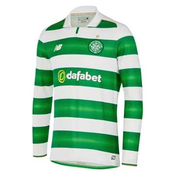 New Balance Celtic Mens Home LS Jersey, White