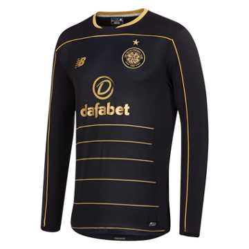 New Balance Celtic Mens Away LS Jersey, Black