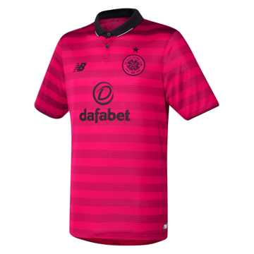 New Balance Celtic Mens 3rd SS Jersey, Pink Shock