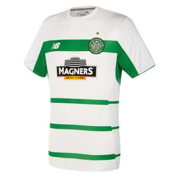 New Balance Celtic Mens Elite Training Pre Match Tee, White