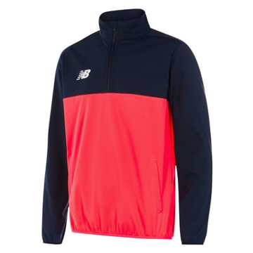New Balance Tech Training Half Zip Windblocker, Galaxy with Bright Cherry