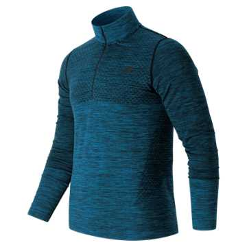 New Balance M4M Seamless Quarter Zip, Barracuda