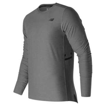 New Balance N Transit Long Sleeve Top, Athletic Grey
