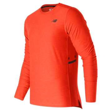 New Balance N Transit Long Sleeve Top, Dynamite