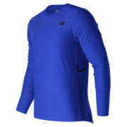 NB N Transit Long Sleeve Top, Marine Heather