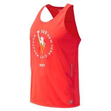 New Balance NYC Marathon NB Ice Singlet, Energy Red