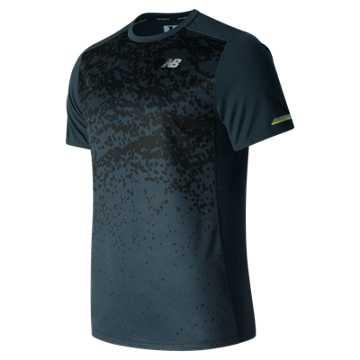 New Balance NB Ice Short Sleeve, Galaxy Tech Print with Black