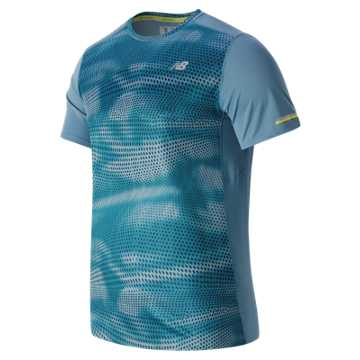 New Balance NB Ice Short Sleeve, Riptide Print with Castaway