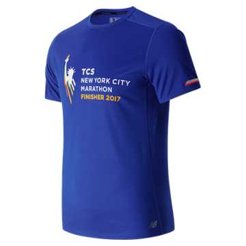 New Balance NYC Marathon Finisher NB Ice Short Sleeve, Blue