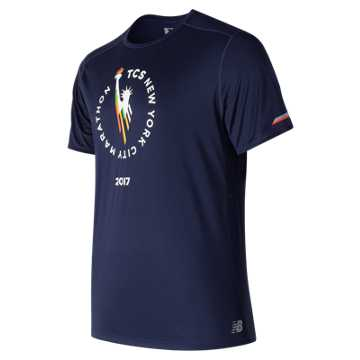 New Balance NYC Marathon NB Ice Short Sleeve, Pigment