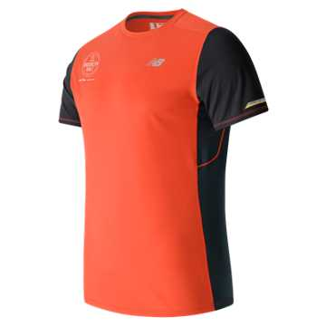 New Balance Brooklyn Half NB Ice SS Tee, Sunrise