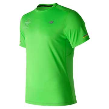 New Balance Brooklyn Half NB Ice SS Tee, Vivid Cactus