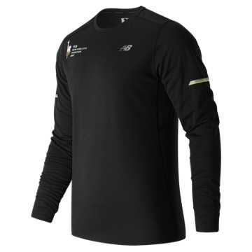New Balance NYC Marathon NB Ice Long Sleeve, Black Multi