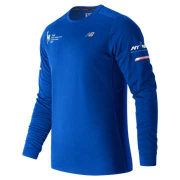 New Balance NYC Marathon NB Ice Long Sleeve, Team Royal