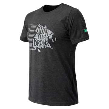 New Balance NYRR Bronx SS Tee, Charcoal Heather