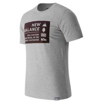 New Balance Camp Vibes Tee, Athletic Grey