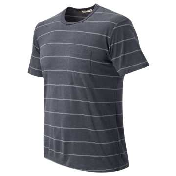 New Balance Novelty Stripe Pocket Tee, Navy