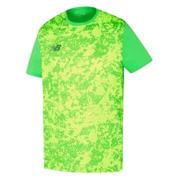 New Balance Tech Training Graphic Tee, Vivid Cactus