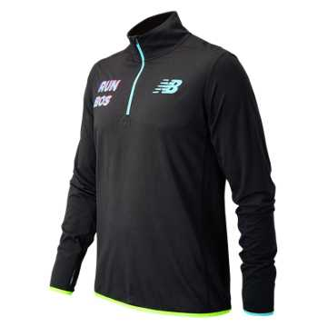 New Balance Boston Quarter Zip, Black