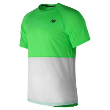 New Balance CBK Breathe Short Sleeve, Vivid Catcus Heather with White