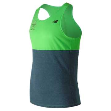 New Balance Brooklyn Half Breathe Tank, Vivid Catcus Heather with Supercell