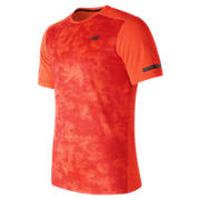 New Balance Max Intensity Short Sleeve, Alpha Orange with Atomic
