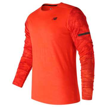 New Balance Max Intensity Long Sleeve, Alpha Orange with Atomic