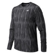 NB Accelerate Graphic Long Sleeve, Typhoon Print with Black