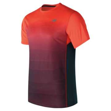 New Balance Accelerate Graphic Short Sleeve, Alpha Orange with Supercell