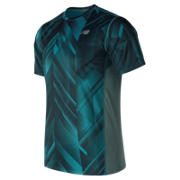 NB Accelerate Graphic Short Sleeve, Deep Ozone Blue with White