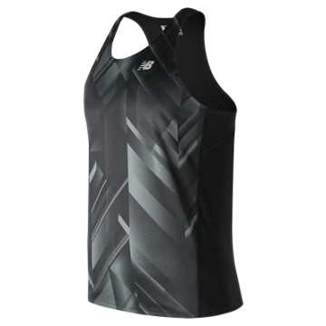 New Balance Accelerate Graphic Singlet, Black Print