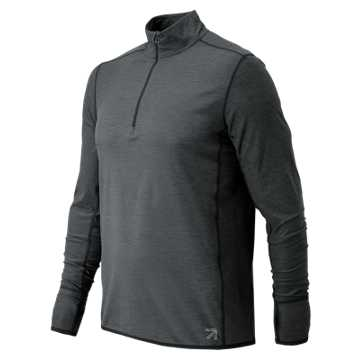 New Balance J.Crew N Transit Quarter Zip, Heather Charcoal
