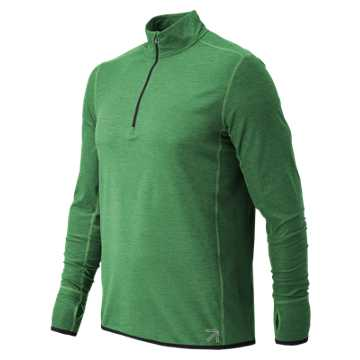 New Balance J.Crew N Transit Quarter Zip, Nassau Green Heather