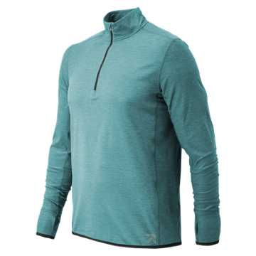 New Balance J.Crew N Transit Quarter Zip, Storm Blue Heather