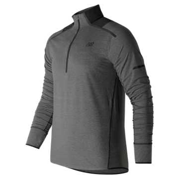 New Balance Precision Run Half Zip, Black Heather