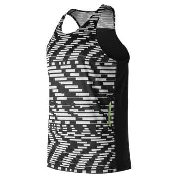 New Balance NB Ice Printed Singlet, Exploded Glitch with Black