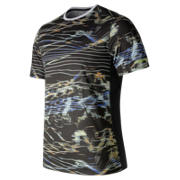 New Balance NB Ice Printed Short Sleeve, Black Print