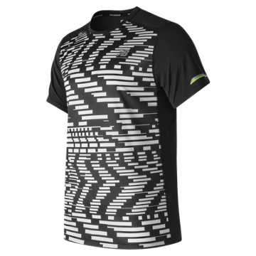 New Balance NB Ice Printed Short Sleeve, Exploded Glitch with Black