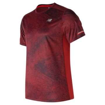 New Balance NB Ice Printed Short Sleeve, Frozen Ground with Team Red
