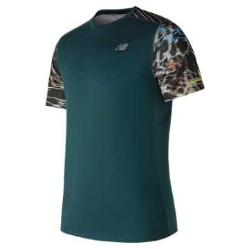New Balance NB Ice Printed Short Sleeve, Supercell with Black