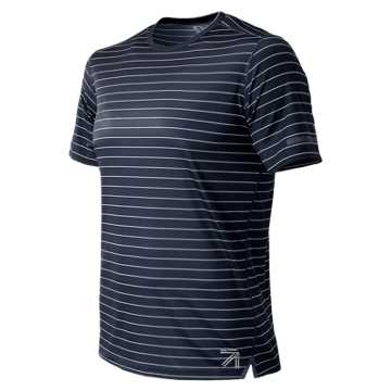 New Balance J. Crew NB Ice 2.0 Print Shirt, Navy Stanley Stripe with White