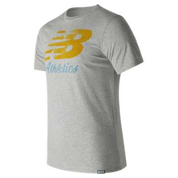New Balance Flying Script Tee, Athletic Grey